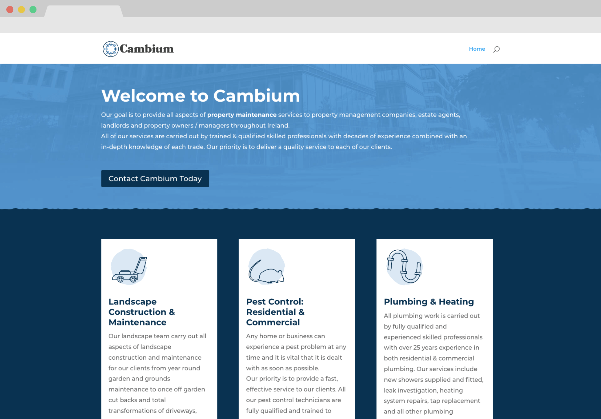 Cambium screen grab